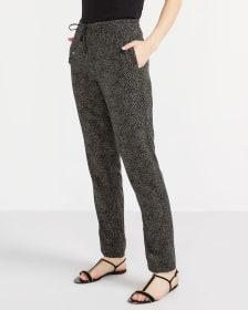 Tall Printed Skinny Pants with Elastic Waist
