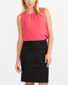 Willow & Thread Cotton Blend Pencil Skirt