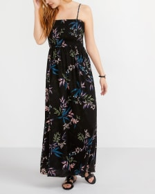 Printed Maxi Dress with Removable Straps