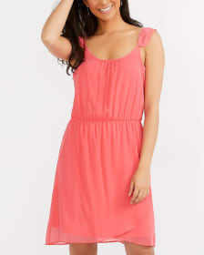 Chiffon Dress with Ruffle Detail