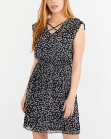 Elastic Waist Printed Dress