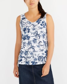 V-Neck Printed Cami