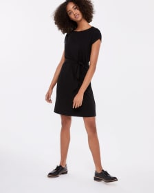 Self Belted Shift Dress