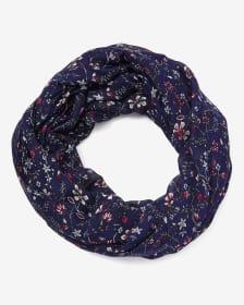 Foulard circulaire à motif floral