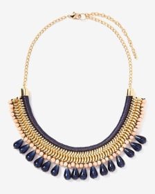 Contrasting Statement Necklace