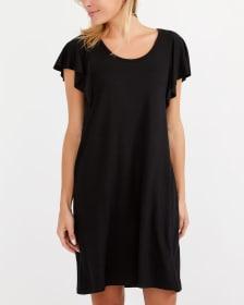 Ruffle Cap Sleeve Dress