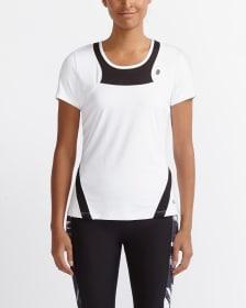 T-shirt à manches courtes avec maille Hyba