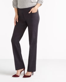 The Iconic Boot Cut Solid Pants