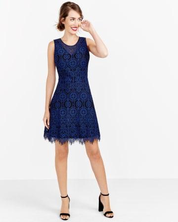 2-Tone Lace Dress