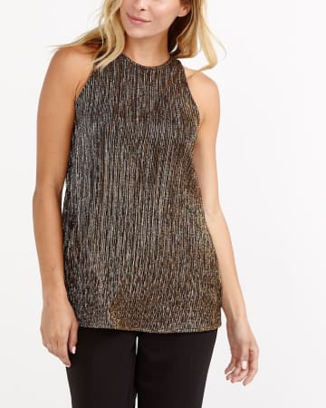 Halter Pleated Top
