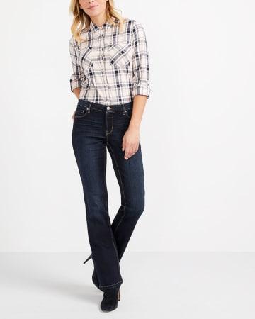 The Insider Dark Wash Boot Cut Jeans