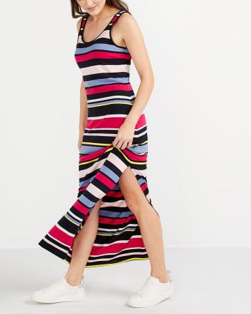 Sleeveless Striped Maxi Dress