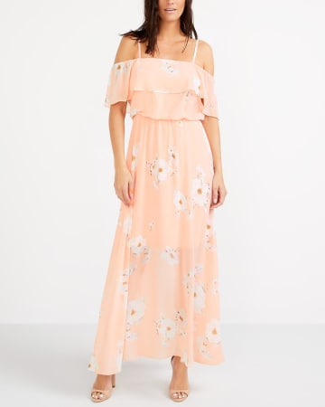 Off-The-Shoulder Printed Dress