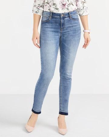 Jeans Sculptant à la cheville skinny à ourlet relâché