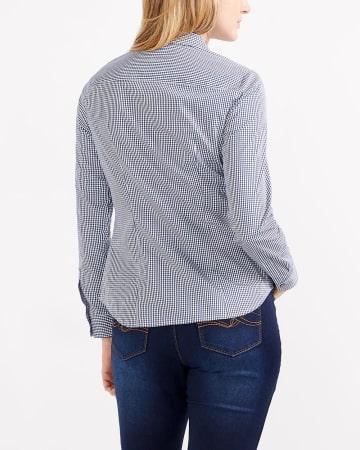 R Essentials Gingham Crisp Shirt
