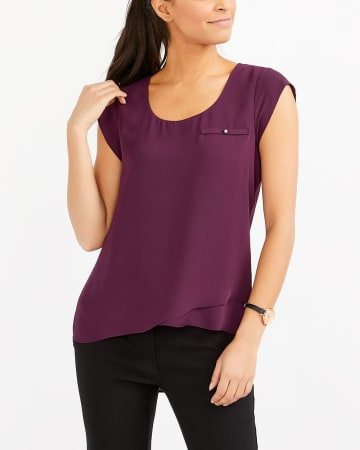 Cap Sleeve Solid Blouse