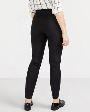 Pantalon à la cheville avec glissières