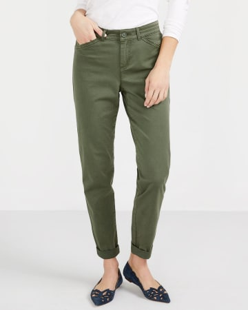 Pantalon uni Chino à jambe étroite Petite