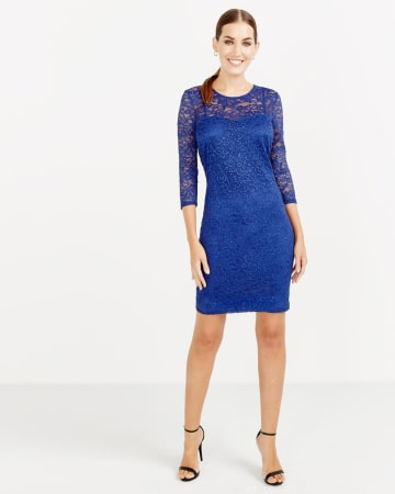 ¾ Sleeve Bodycon Dress