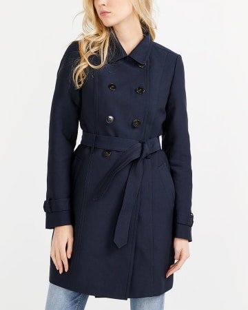 Water Repellant Lined Trench Coat