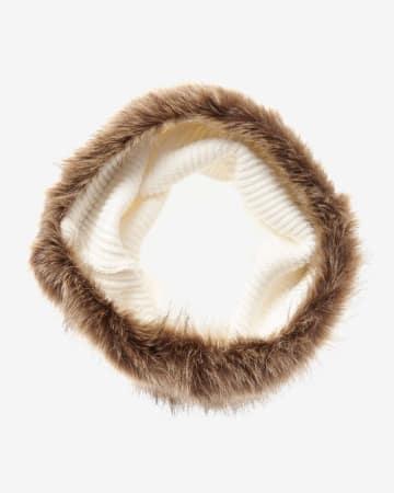 Écharpe circulaire à fourrure synthétique