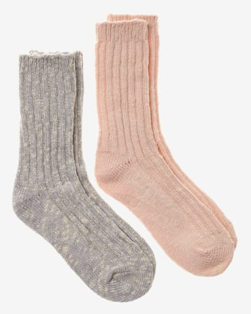2-Pair Set of Marled Socks
