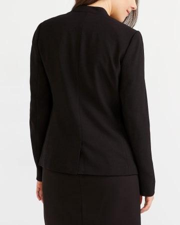 Button Solid Blazer