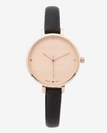 Saffiano Pink Gold Wristwatch