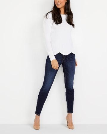Le Jeans Sculptant à la cheville skinny Long
