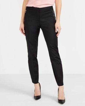 Pantalon à la cheville avec glissières Long