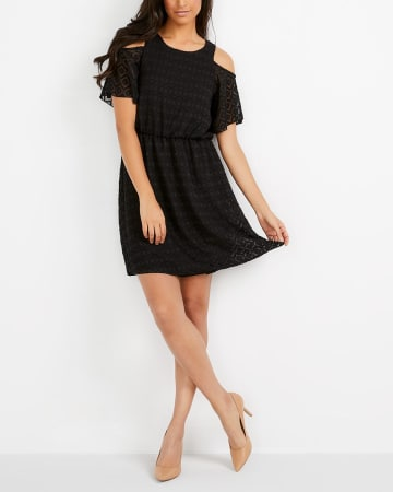 Cold Shoulder Patterned Dress