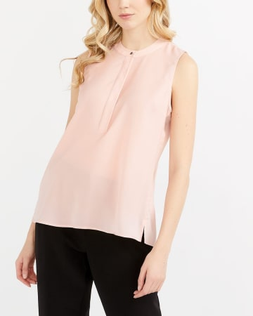 Willow & Thread Sleeveless Pleated Blouse
