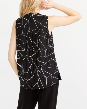 Willow & Thread Sleeveless Printed Blouse