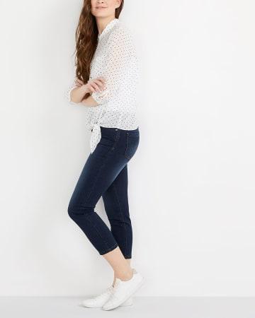 Dark Wash Cropped Jeans