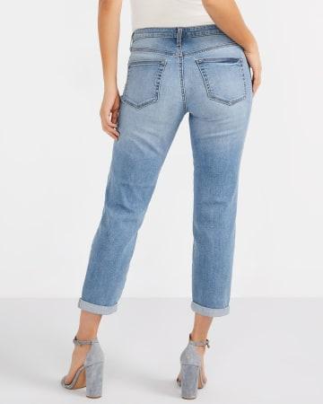 Pearl Cropped Boyfriend Jeans