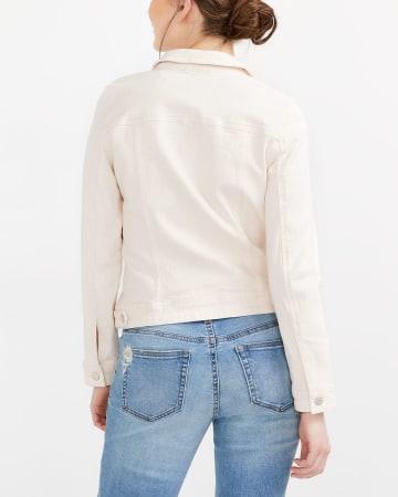 Veste en jeans rose