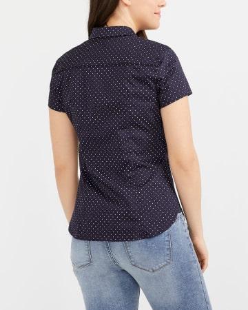R Essentials Printed Crisp Shirt