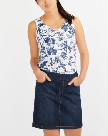4-Pocket Denim Skort
