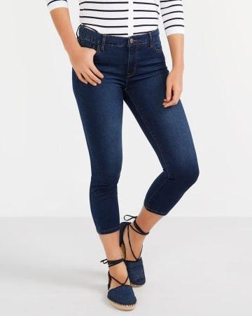 Le Signature Doux capri en jeans Petite