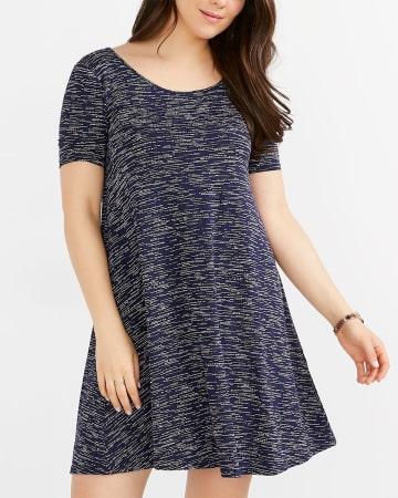 swing dress missguided blue print