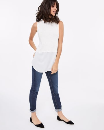 Sleeveless Lace Fooler Top