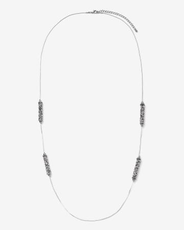 Station Glitter Long Necklace