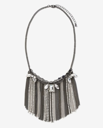 Collier plastron à franges