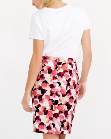 Willow & Thread Cotton Blend Printed Pencil Skirt