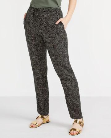 Printed Skinny Pants with Elastic Waist