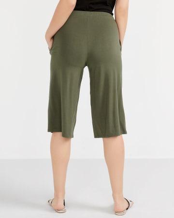 Knit Gaucho Pants