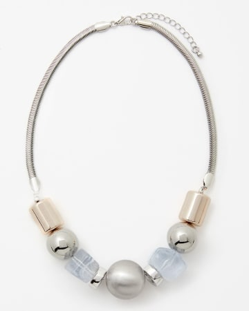 Textured Bead Necklace