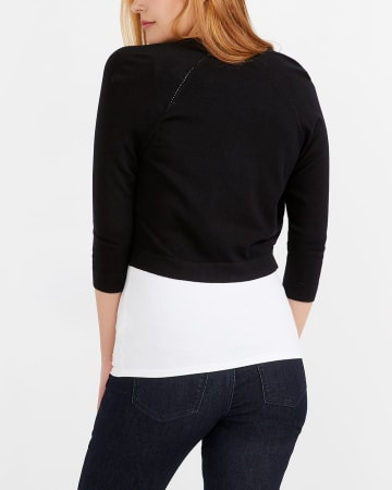 ¾ Raglan Sleeve Open Shrug