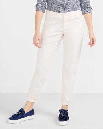 Solid Slim Leg Chino Pants