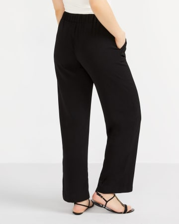 Solid Wide Pants with Sash